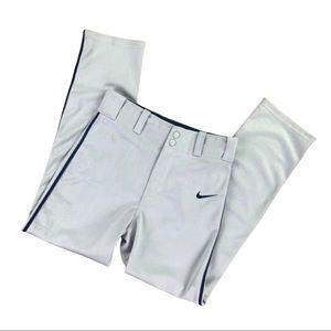 NWT NIKE Boys Dri-Fit Baseball Pants Gray and Blue